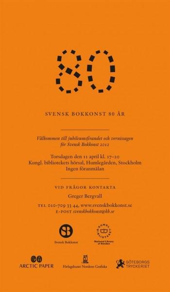 Svensk Bokkonst 80 år