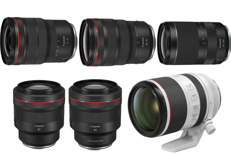 Sex nya RF-objektiv från Canon