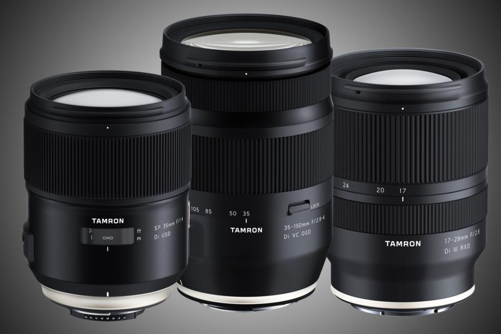 Tre objektiv från Tamron för fullformat