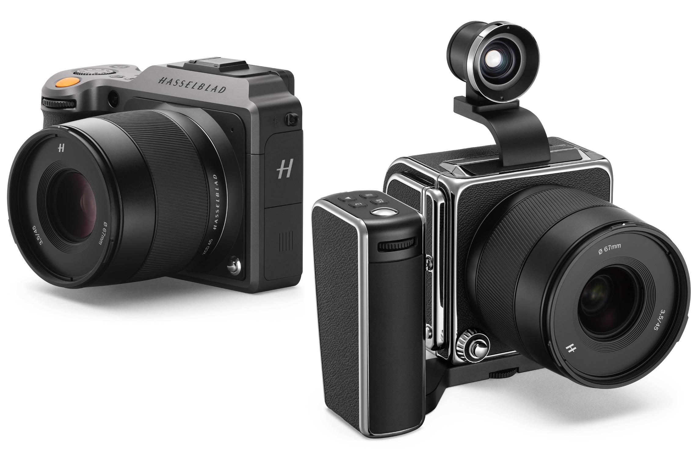 Två spegelfria kameror från Hasselblad