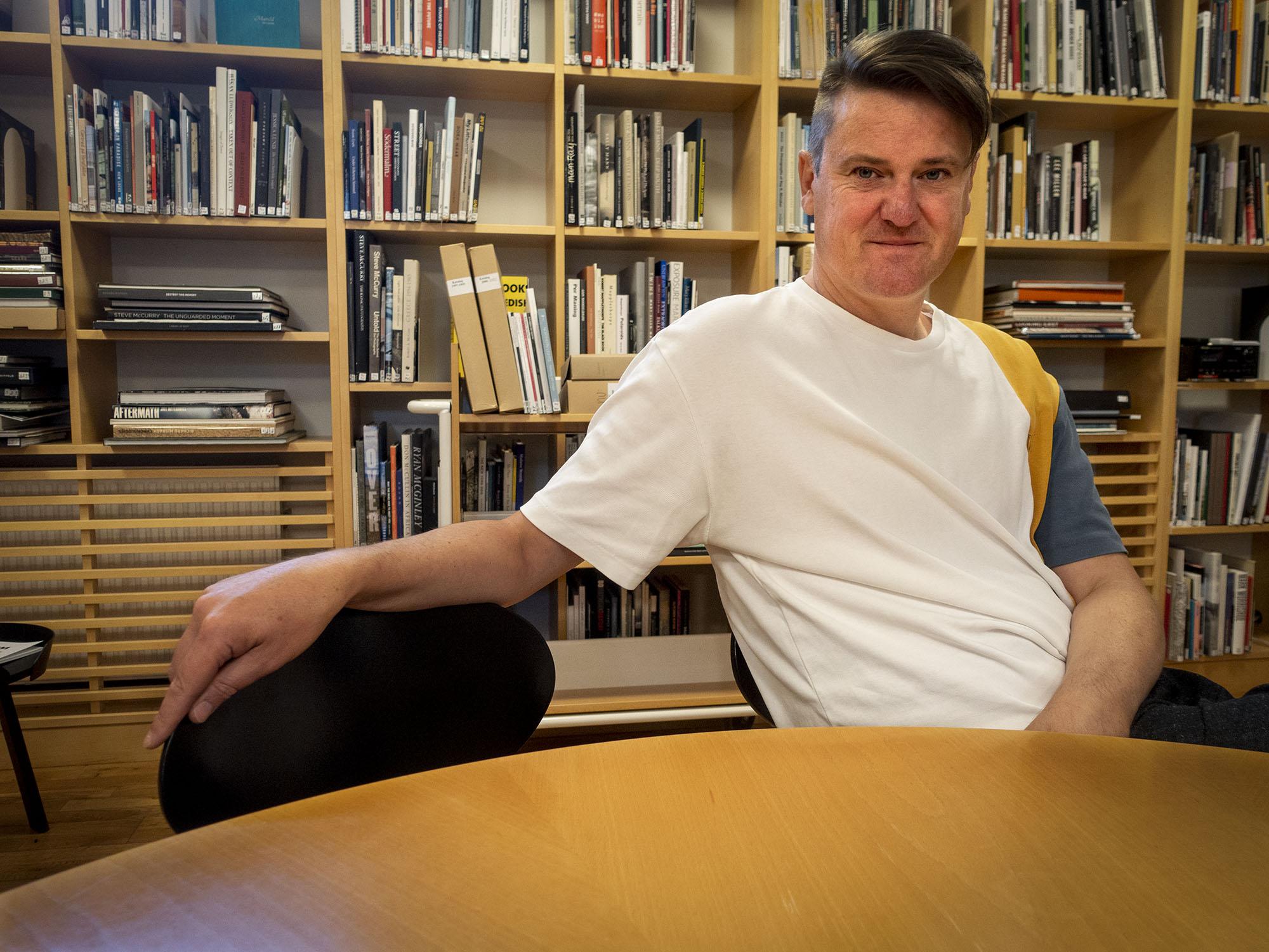 Fotofika med Andreas Hagström, ny bibliotekarie på Hasselblad
